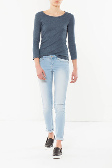 T-shirt in cotone, Blu, hi-res