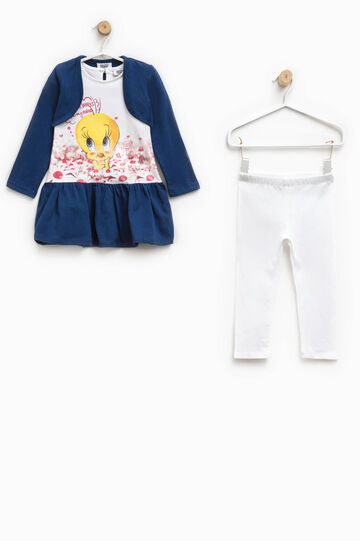Outfit with Tweetie Pie print and diamantés