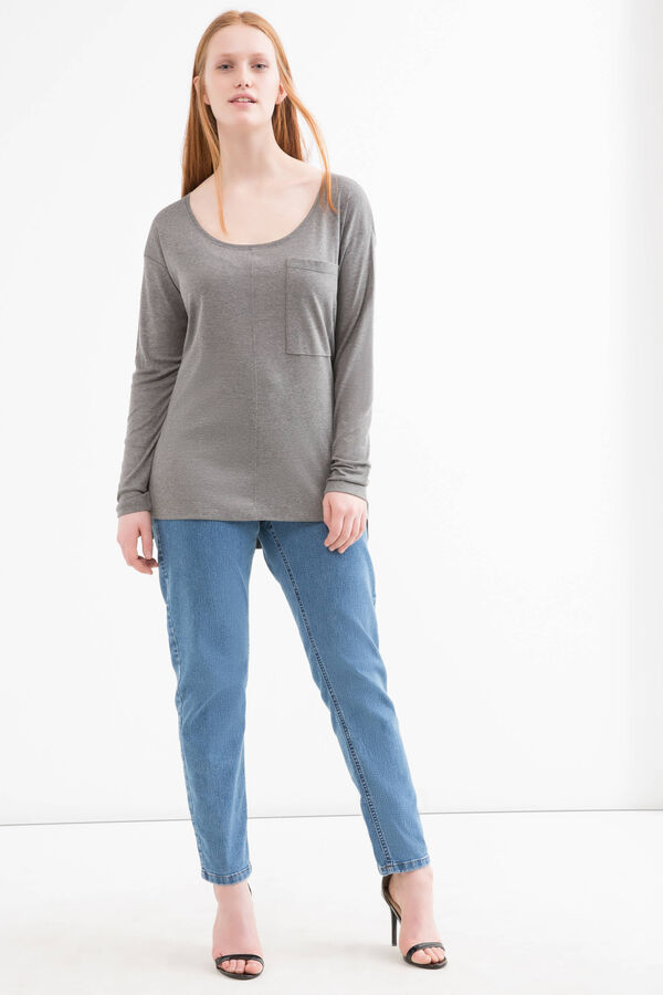 T-shirt con taschino Curvy | OVS