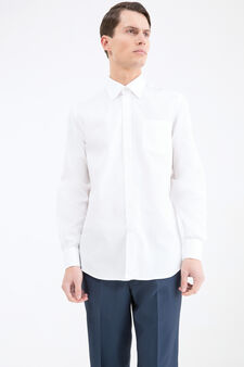 Regular fit shirt in 100% cotton, White, hi-res