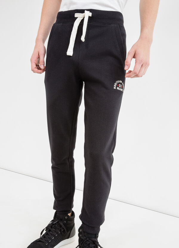 Cotton joggers with G&H embroidery | OVS