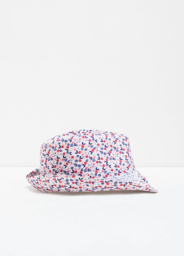 Wide-brimmed hat with floral pattern | OVS