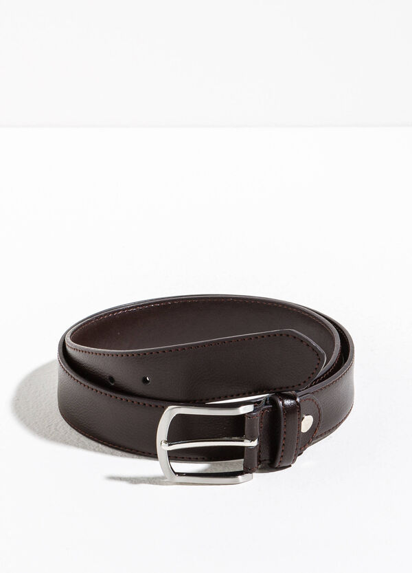 Cintura con fibbia rettangolare lucida | OVS