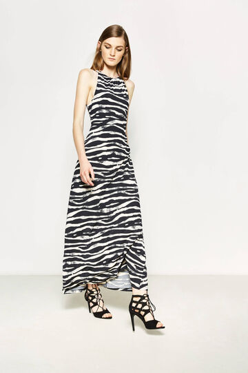 Long stretch dress with animal pattern