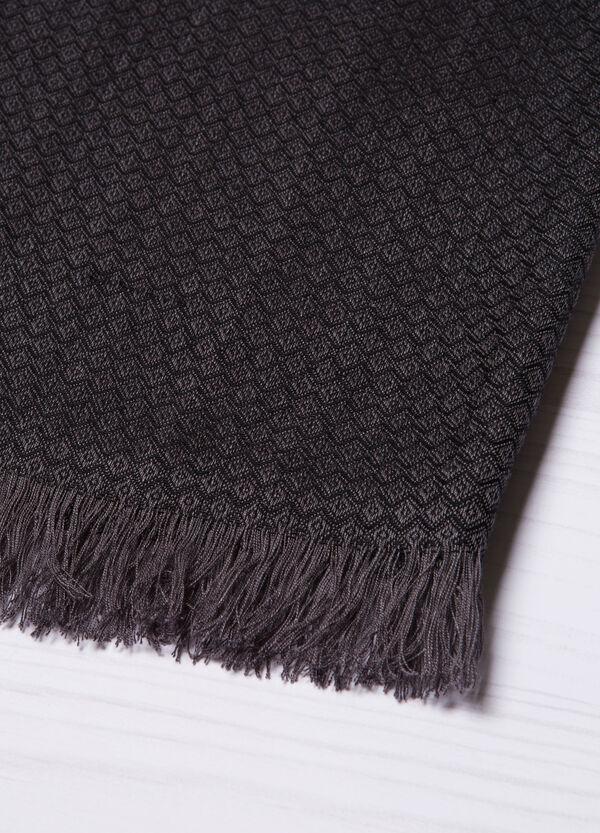 Jacquard scarf with diamond pattern | OVS