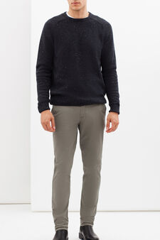 Regular fit stretch jeans, Moss Green, hi-res