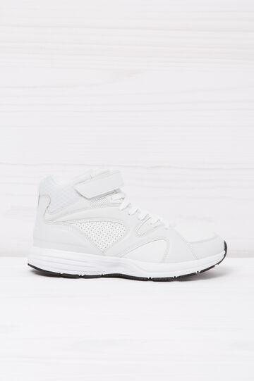 Sneakers alte tinta unita, Bianco, hi-res