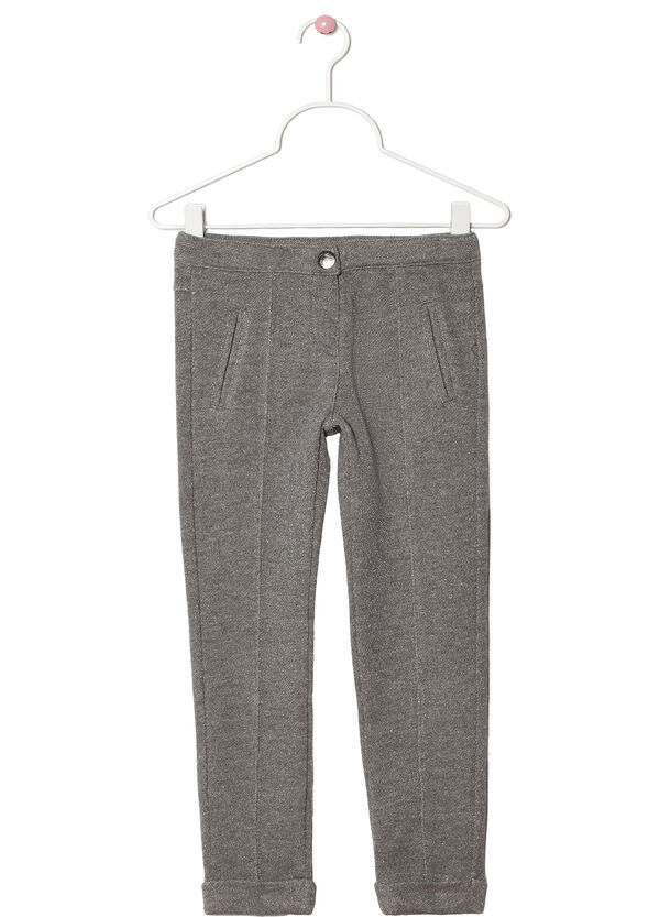 Plain stretch cotton trousers | OVS