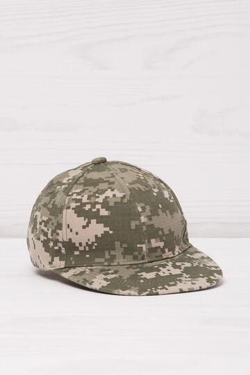 Patterned cotton baseball cap