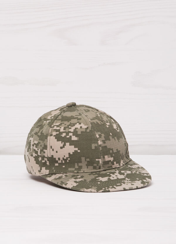 Patterned cotton baseball cap | OVS