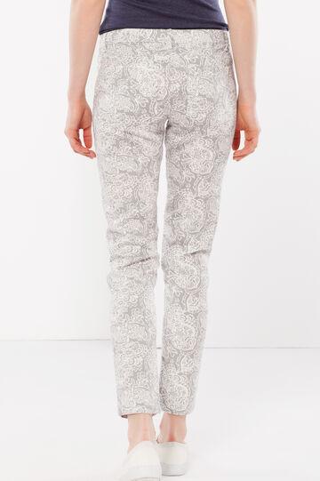 Pantaloni capri aderenti, Bianco/Grigio, hi-res