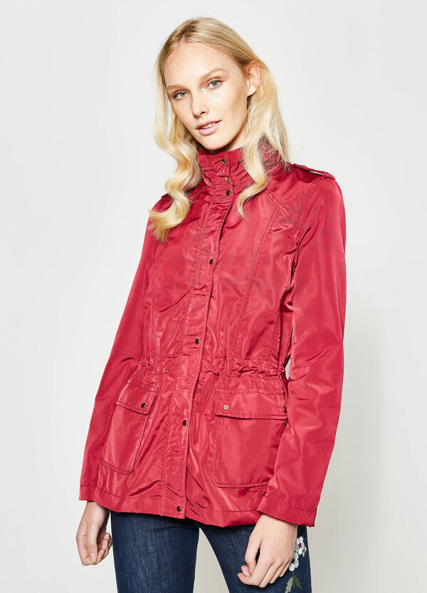 Short trench coat with hood | OVS