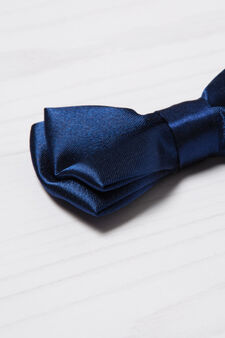 Solid colour bow tie, Navy Blue, hi-res