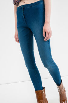 Stretch jeans with high waist, Denim, hi-res