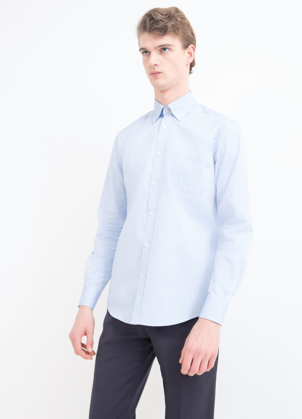 Regular-fit shirt with button down collar | OVS