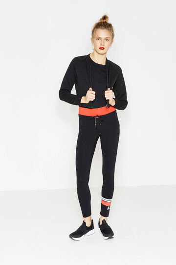 Leggings OVS Active Sport Training, Nero/Rosso, hi-res