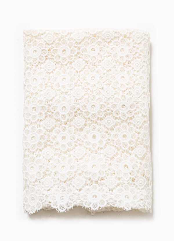 Scarf in 100% cotton lace | OVS