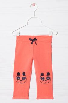 Pantaloni tuta stretch con coulisse, Rosa corallo, hi-res