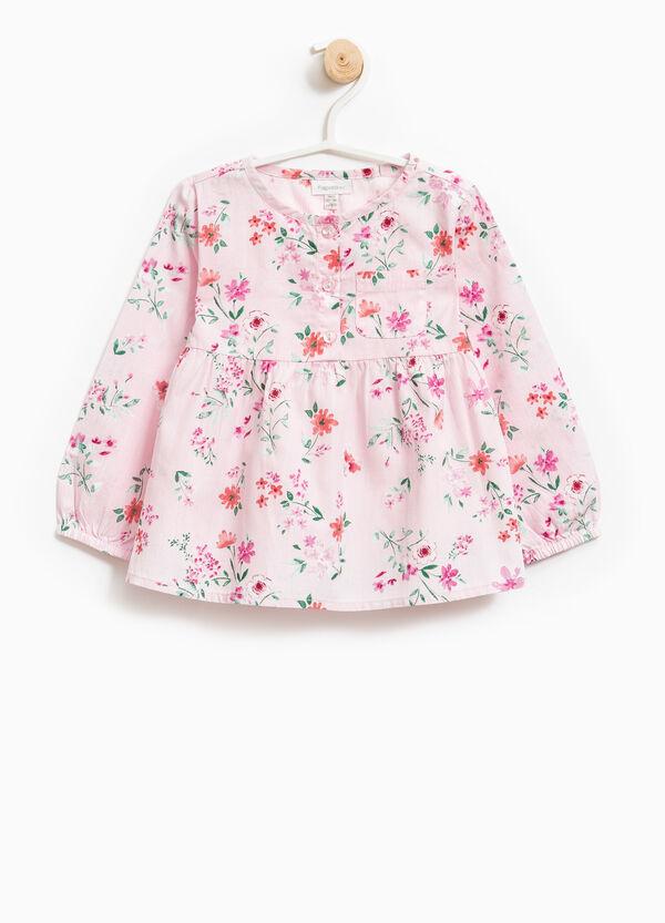 Blusa de algodón con estampado floral | OVS