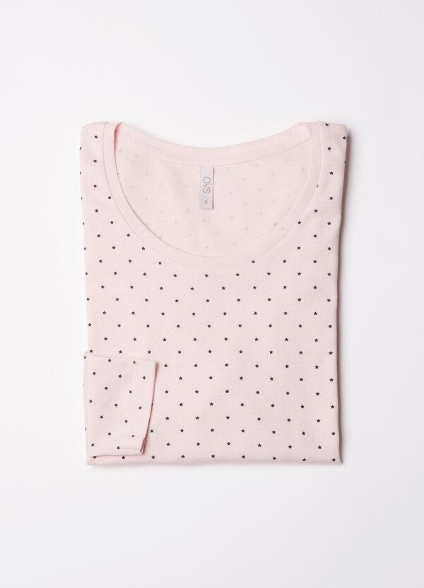 Printed pyjama top in 100% cotton | OVS