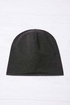Striped beanie cap., Black/Grey, hi-res
