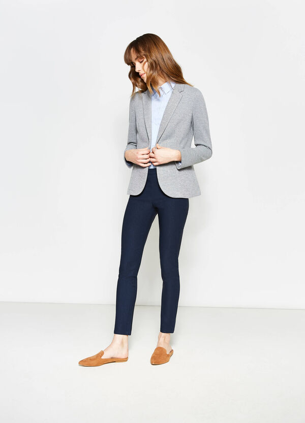 Single-button blazer with striped lining | OVS