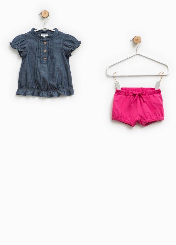 Completo camicetta di jeans e shorts | OVS