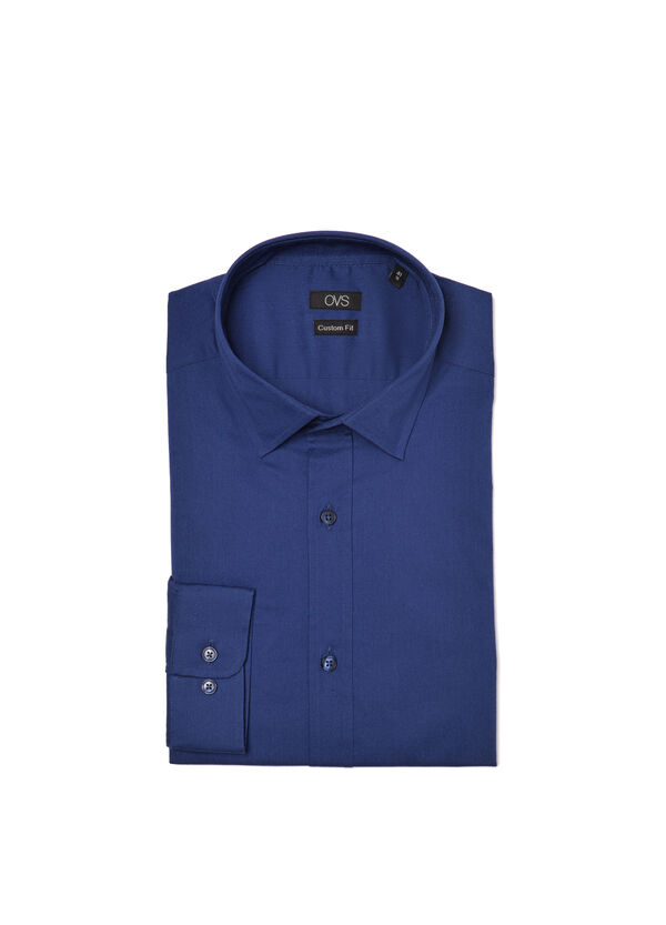 Camicia custom fit in popeline stretch | OVS