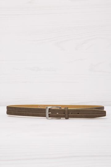 Cintura con cuciture a contrasto, Marrone fango, hi-res