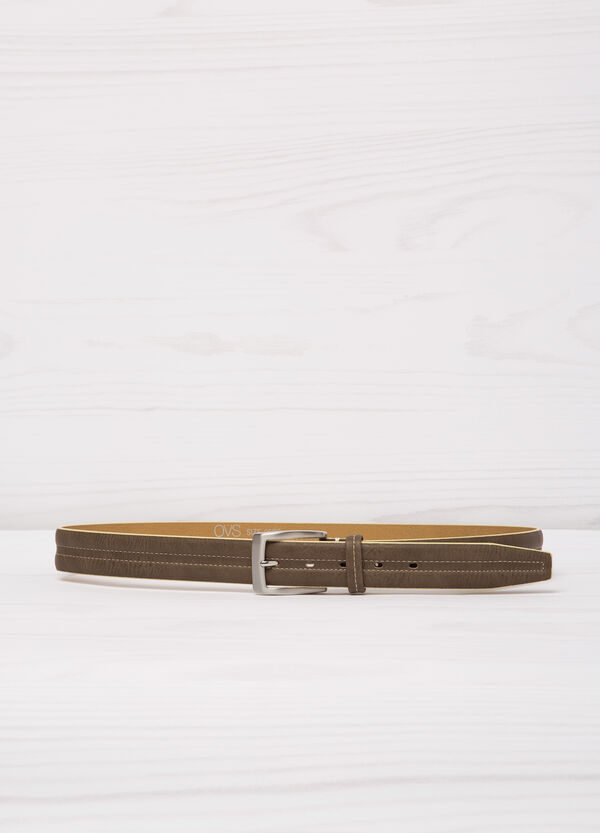 Belt with contrasting colour stitching | OVS