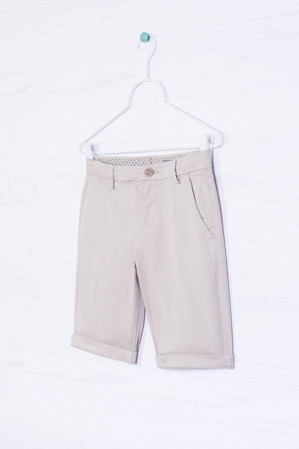 Solid colour stretch cotton Bermudas   OVS