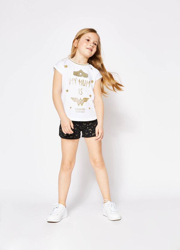 T-shirt with Wonder Woman glitter print | OVS