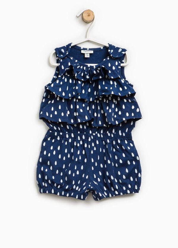 Patterned playsuit with flounce | OVS
