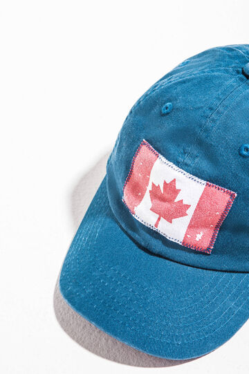 Baseball cap with flag, Blue, hi-res