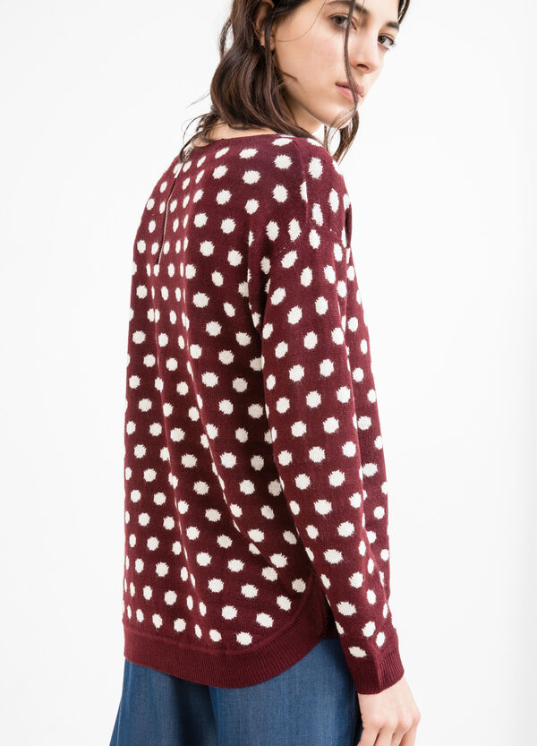 Pullover with polka dot pattern | OVS