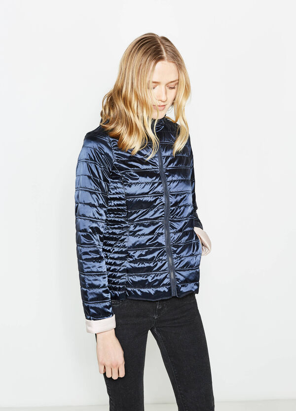 Shiny down jacket with high neck | OVS