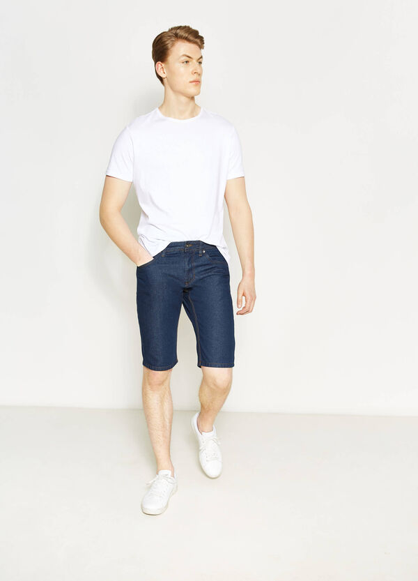 Straight-fit denim Bermuda shorts | OVS