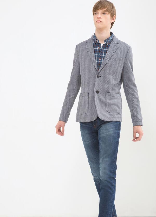 Blazer with lapel collar. | OVS