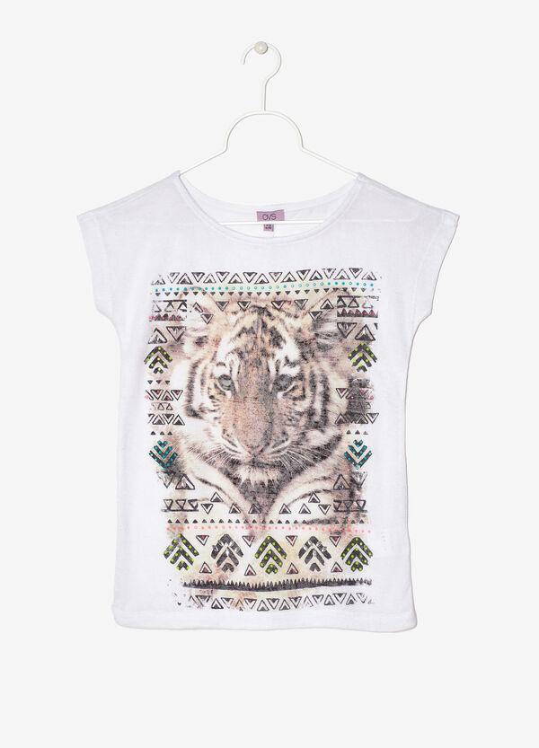 T-shirt viscosa con stampa | OVS