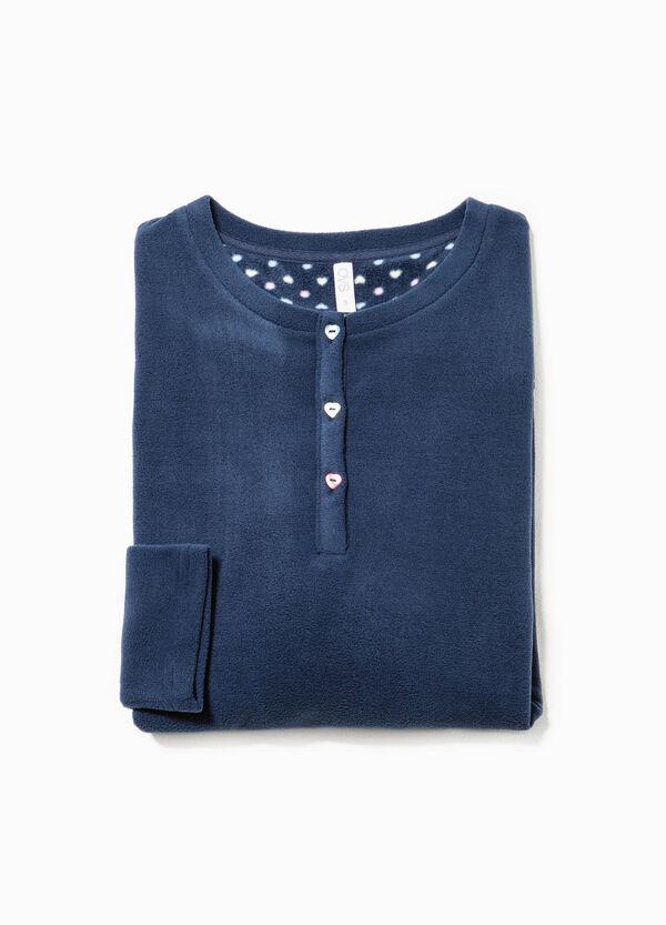 Solid colour fleece pyjama top | OVS