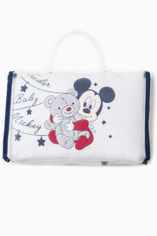 Baby Mickey Mouse cotton blanket, White/Blue, hi-res