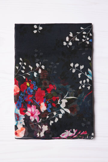 Floral patterned scarf