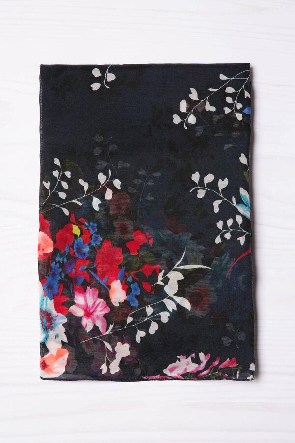 Sciarpa con fantasia a fiori   OVS