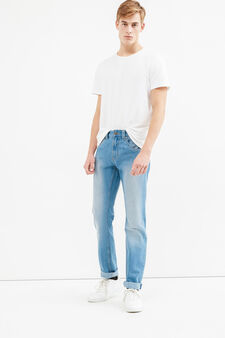 Faded-effect straight-fit jeans, Light Wash, hi-res