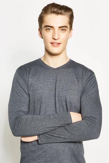 T-shirt con maniche lunghe, Grigio antracite, hi-res