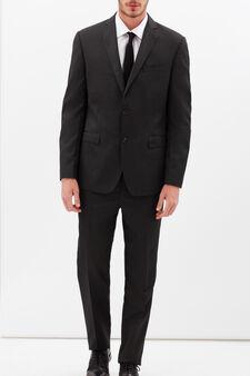 Elegant striped suit with regular fit, Dark Grey, hi-res