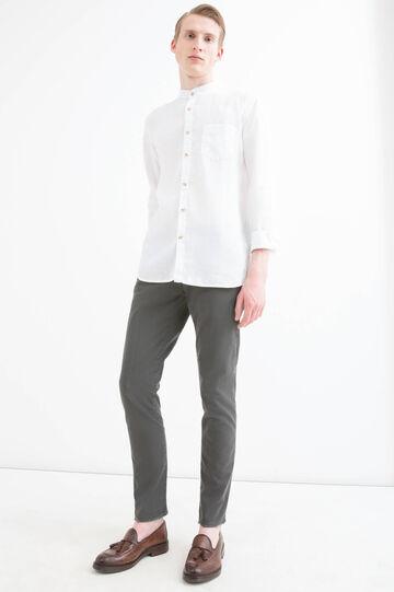 Stretch cotton chinos, Dark Grey, hi-res