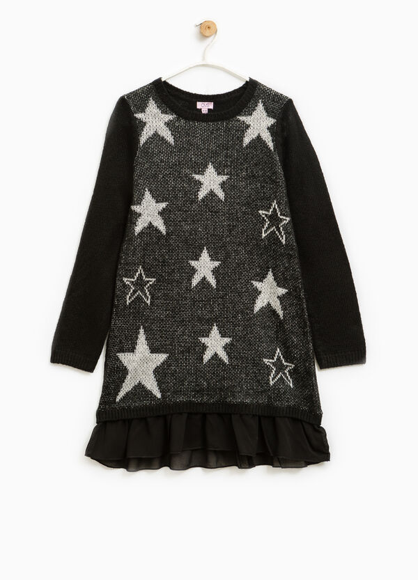 Dress with round neck and stars pattern | OVS