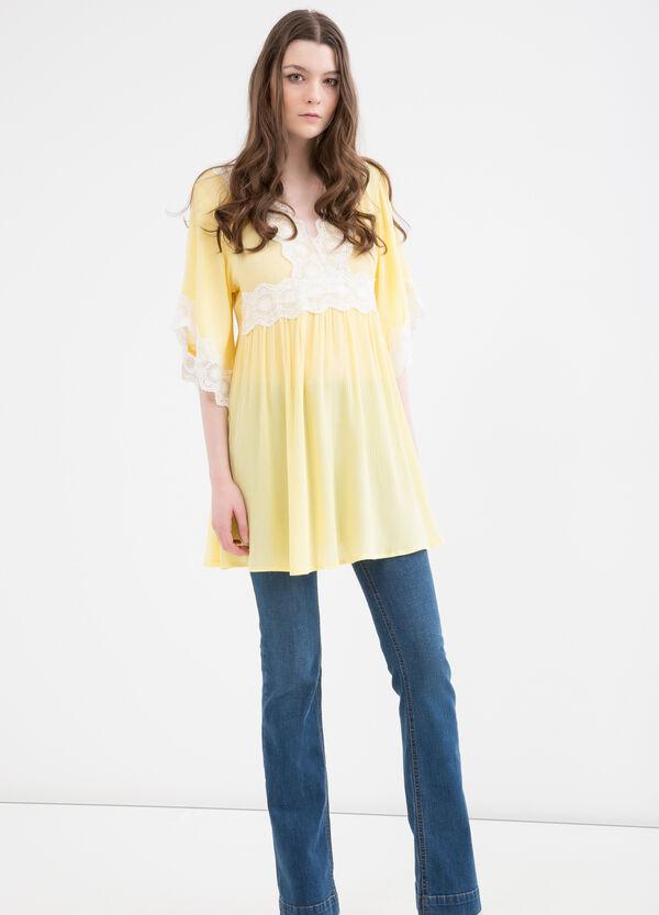 Cotton-viscose blend dress   OVS