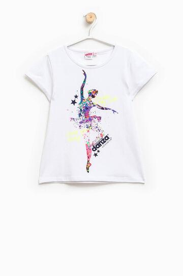 Camiseta con estampado Dimensione Danza, Blanco, hi-res